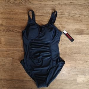 Simon Chang Ruched Tummy Control Swimsuit NWT